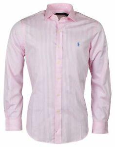 Polo Ralph Lauren Men's Classic Fit Spread Collar Shirt-Pink Stripes