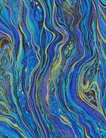 Peacock Palazzo tt CM2210 abstract marbling metallic durable cotton Fabric