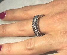 Anello fascia ORO 750% diamanti Bianchi e neri  ct. 0,93 - Unisex  AFFARE ring