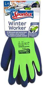 Spontex Winter Worker Arbeits-Handschuhe mit Innenfütterung Gr. L-8 / M-7