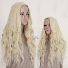 Lady Womens Blonde Wig Hair Long Wavy Curly Full Wig Cosplay Costume Party Wigs