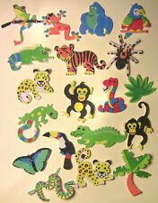 Rainforest Animals foam stickers, scrapbooking,  kids crafts