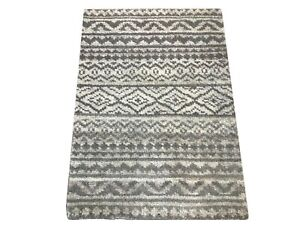 2X3 Modern Moroccan Hand-Knotted Wool Area Rug Small Oriental Carpet