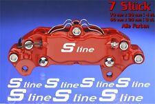 7x S line Aufkleber Bremssattel Audi brake caliper Alufelge Set