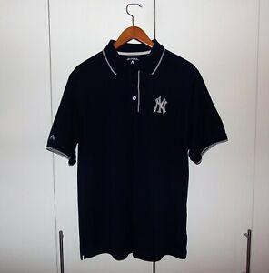 NY Yankees Navy Blue Antigua Size Large Men's Polo Shirt