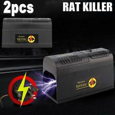 2X Electronic Mouse Trap Victor Control Rat Killer Pest Electric Zapper Rodent