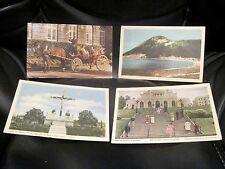 QUEBEC Canada Set of 4 Vtg Postcards 1950 Pilgrimage Cross Gaspe Victoria Coach