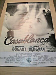 Casablanca - Filmplakat Poster - Dänemark - Übergröße - Bogart - Bergman