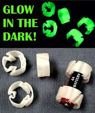 100 PCS GLOW IN THE DARK CUSTOM BATTERY ADAPTER CONVERTER AA TO C PR15_100GL