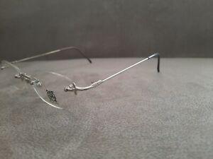 Jean Paul Gaultier JPG Vintage Rimless Eyeglasses Frame 57-0021 Silver 48-19