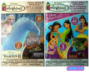 Colorforms Girls Lot 2 Disney Princess + Frozen 2 Kids Play Sets Toys Retro NEW
