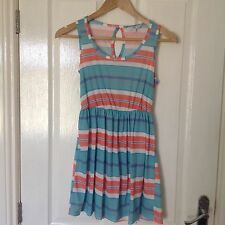 BRAND NEW LADIES 'NEW LOOK' MULTI STRIPED SHORT DRESS. SIZE 10.