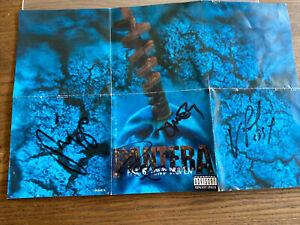 Pantera Far Beyond Driven CD Liner Notes Signed 1994 Dimebag Rex Phil Vinnie