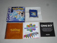 BOXED GAMEBOY GAME POKEMON BLUE VERSION COMPLETE PAL COMPLETE W BOX & MANUAL CIB