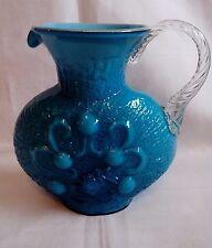 Opalina Fiornentina Glas Vase Blau, Türkis, ITALY 60/70er JAHRE