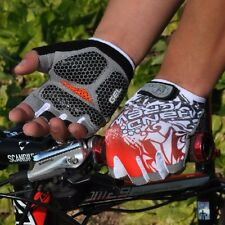 Red Outdoor Cycling Bike Bicycle GEL Shockproof Sports Half Finger Glove M