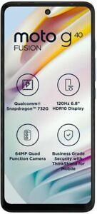 MOTOROLA G40 Fusion-Unlocked Dual SIM-Stock Android-6GB RAM-GooglePlay