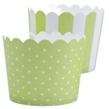MINI Muffinförmchen Cupcake Papier Cups hellgrün weiß Muffin Städter 12