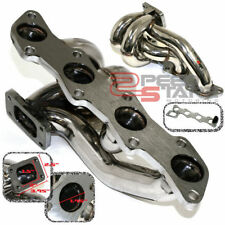 FOR S13/S14 KA24DE DOHC T25/T28 TURBO STAINLESS TURBOCHARGER CHROME MANIFOLD