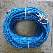 """3/8"""" x 85ft. Royal Blue Dacron/Polyester Halyard, Spliced in S/S Snap Shackle"""