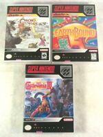 Super Nintendo SNES Custom Case Lot EarthBound Castlevania IV Chrono NO GAMES