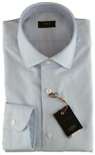 NWT BARBA NAPOLI DRESS SHIRT Culto Polka dot white sky blue handmade 39 15 1/2