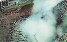 MUD VOLCANO, YELLOWSTONE NATIONAL PARK, WYOMING / VINTAGE 1961 POSTCARD
