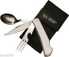 KA-BAR  #1300 HOBO TAKE-A-PART STAINLESS STEEL EATING UTENCIL KIT