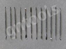 12PC Wax Carving Spatula Polymer Metal Art Clay Tools FIMO PMC Sculpey Air dry