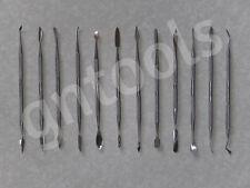 12pc cire spatule sculpture métal polymère outils art clay fimo PMC Sculpey sécher à l'air