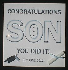 HANDMADE PERSONALISED GRADUATION CARD CONGRATULATIONS SON