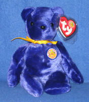 TY SAPPHIRE the BEAR BEANIE BABY - MINT RETIRED BBOM