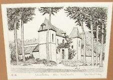 """MICHEL NEY """"CHATEAU DES MESNULS"""" LIMITED SIGNED COPPER ETCHING"""