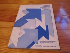 RARE 1983 POLICY RECOMMENDATIONS FOR MAYOR HAROLD WASHINGTON CHICAGO SC