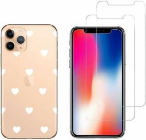 iPhone 11 PRO - Coque fantaisie + 2 Films protection écran verre trempé