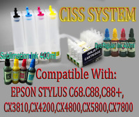 CISS Continuous Ink Supply System for Epson Stylus C68 C88 C88+ CX3800 CX3810