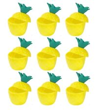 6 x Hawaïen Luau Hula Tropical plastique Parti Pineapple Punch verre tasses SC01