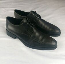 Coach Men's Sz 11 Stanford Catalux Black Lace Up Oxfords Made In Italy $167