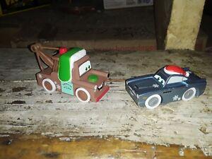 Disney Pixar's cars maidenhead wooden Christmas MATER/FINN MCMISSILE