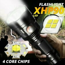 200000lm XHP90 LED Flashlight Torch USB Rechargeable Lamp Ultra Bright Liight