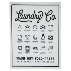 "Farmhouse Laundry Symbols Metal Sign 14"" x 10-1/2"""