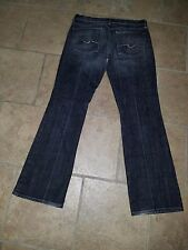 7 For All ManKind Man kind Bootcut Womens Jeans Size 31 Black Dark Blue