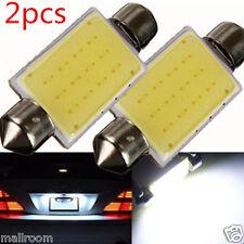 2x LED 12 SMD COB Soffitte Festoon 41mm Kennzeichen Kofferraum Beleuchtung DC12V
