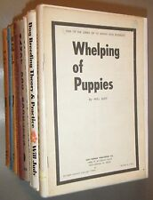 9 Captain Will Judy Books About Dogs Training Care Breeding Kennels & Stories