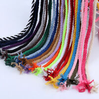 5mm 100m Macrame Rustic Rope Multi-Color Cotton Twisted Cord String DIY Craft US