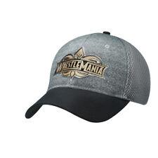 WWE WRESTLEMANIA 34 GREY/GOLD LOGO BASEBALL CAP HAT OFFICIAL WM34 NEW