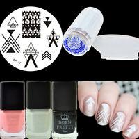 6Pcs/set BORN PRETTY Nail Art Stamp Plate Polish Stamper W/Scraper Peel off Tape