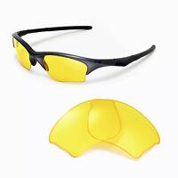 New Walleva Yellow Replacement Lenses For Oakley Half Jacket XLJ Sunglasses