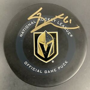 Mark Stone Signed Hockey Puck Vegas Golden Knights Autograph NHL Fanatics Holo