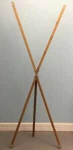 4 Solid Bamboo Banner Stand Display Tradeshows Retail Shop With Storage Bag 2x5'